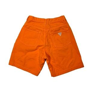 Vintage Guess Jeans Orange Denim Bermuda Shorts